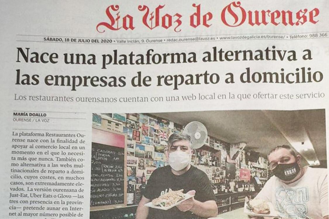 Restaurantes Ourense en La Voz de Galicia